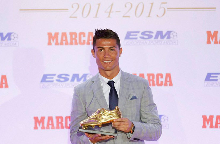 dce818f36ffd Cristiano Ronaldo, chasing greatness, wins fourth Golden Boot award.