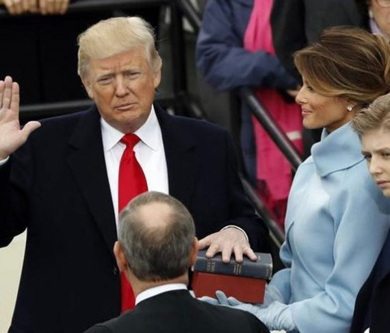 Trump, sworn in as U.S. president