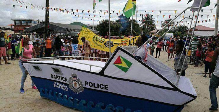 Police win Bartica Mash Float Parade