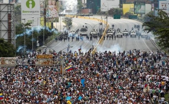 Three killed at Venezuela mass protests