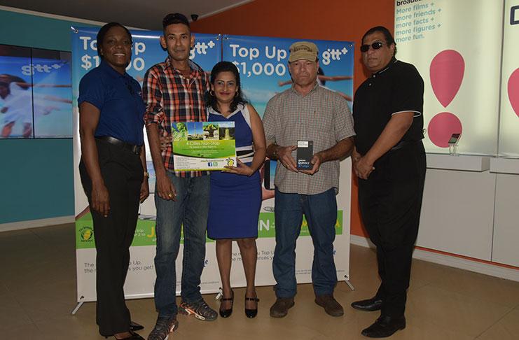 GTT rewards winners of top-up promotion - Guyana Chronicle
