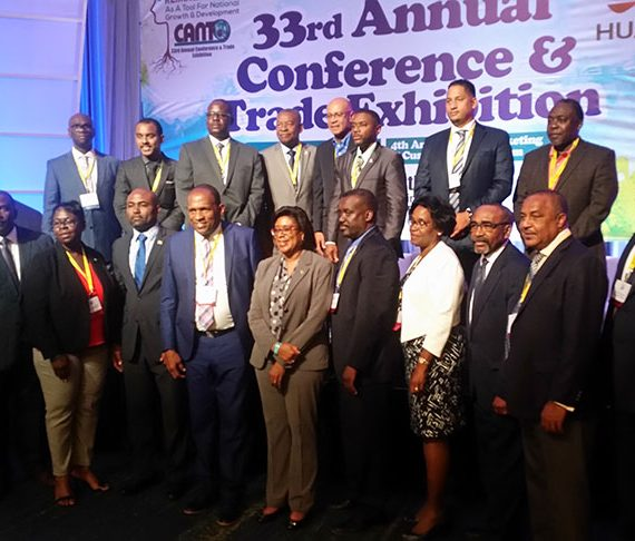 Min Hughes attending regional telecommunications conference