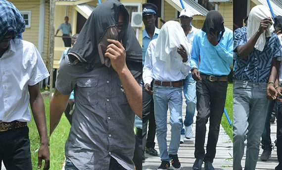 Six gunmen charged with series of offences