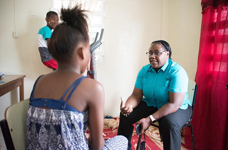 Min  Broomes pays Charlestown home surprise visit - Guyana