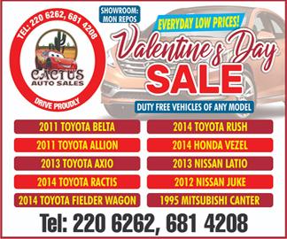 Cactus Auto Sale