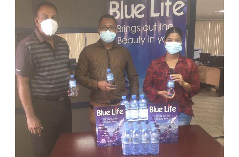 General Manager Randy Goodett (centre) alongside Marketing Manager Shania Garraway and GGA president Aleem Hussain (left)