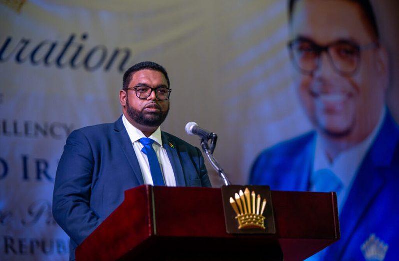 President Dr Irfaan Ali
