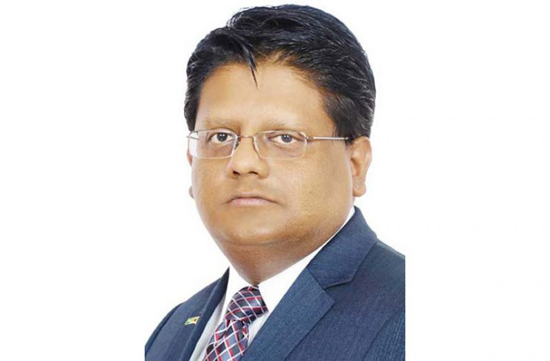 Senior Minister with responsibility for Finance, Dr. Ashni Singh