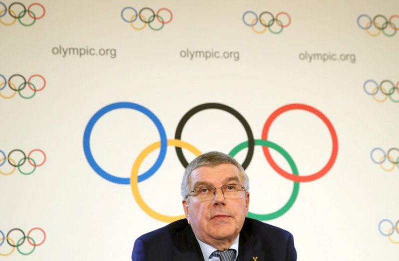 Thomas Bach, president of the International Olympic Committee (IOC) attends a news conference after an Executive Board meeting in Lausanne, Switzerland, May 22, 2019. (REUTERS/Denis Balibouse)