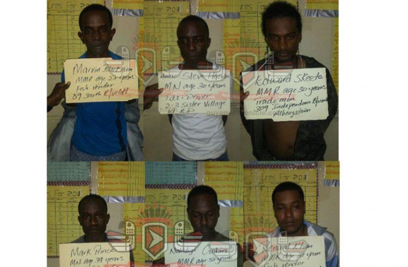 The six suspected bandits