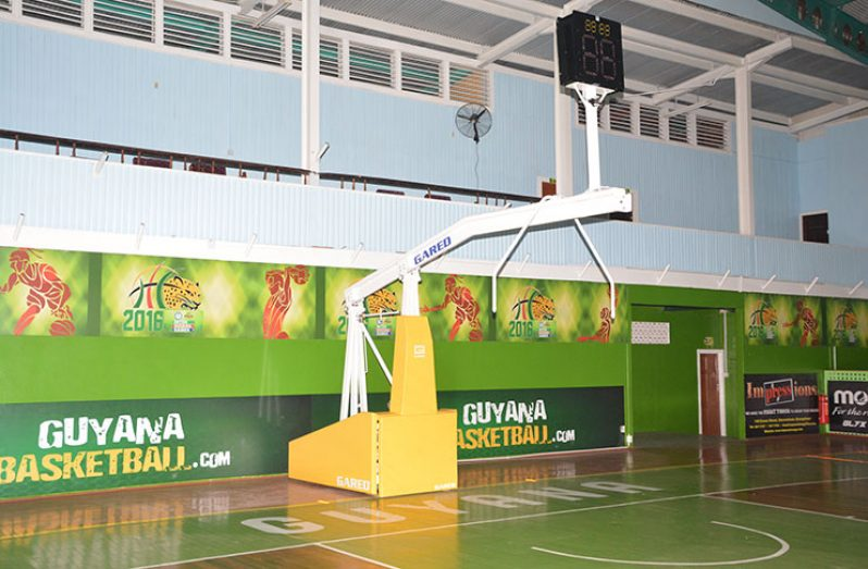 The basketball ring at the Sports Hall (Delano Williams photos)