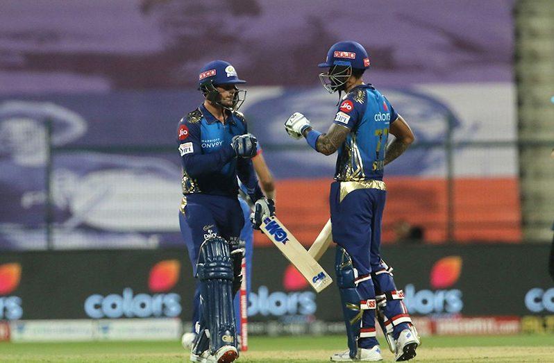 Quinton de Kock and Suryakumar Yadav's fifties guided Mumbai Indians to a five-wicket win over Delhi Capitals.