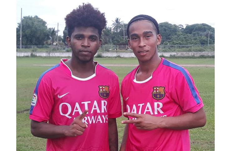 Christopher Belfield  (left) and Xavier Fernandez - Mainstay Gold Stars FC
