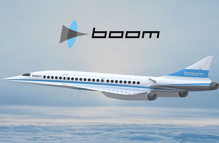 """An artist's impression of the XB-1 """"Baby-boom"""" supersonic jet."""