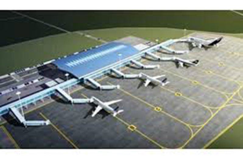 An artist's impression of the completed airport expansion project, as was outlined in the initial agreement between the Government and CHEC