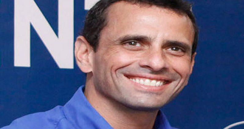 Venezuelan opposition candidate for President, Henrique Capriles