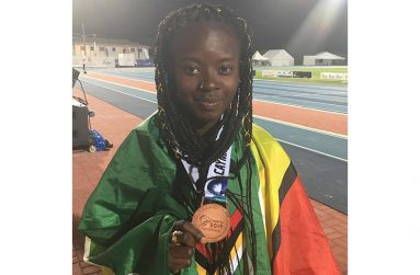 Claudrice McKoy won the U-20 Women's 1500m at the 2019 CARIFTA Games.
