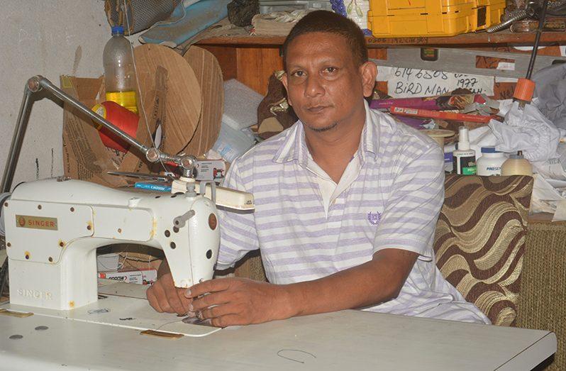 Roy Narain in his workshop