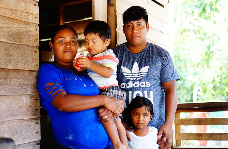 Zoreena Jeffrey, her husband and two of their three children