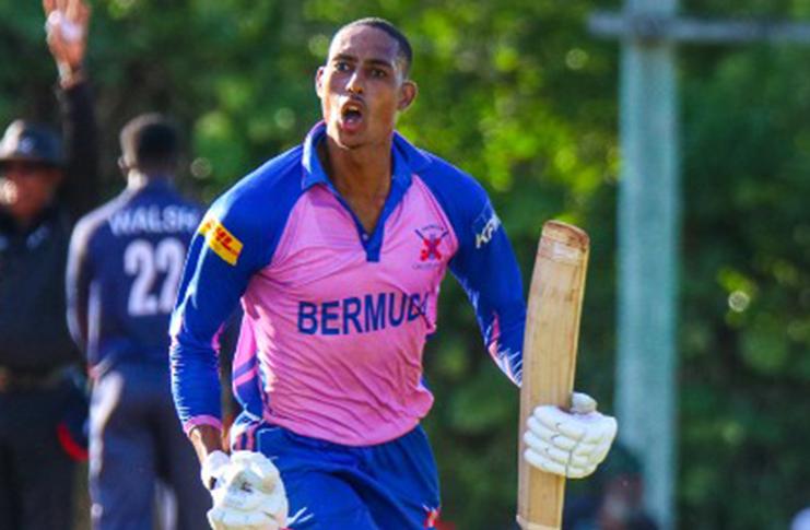 Bermuda batsman Deunte Darrell.