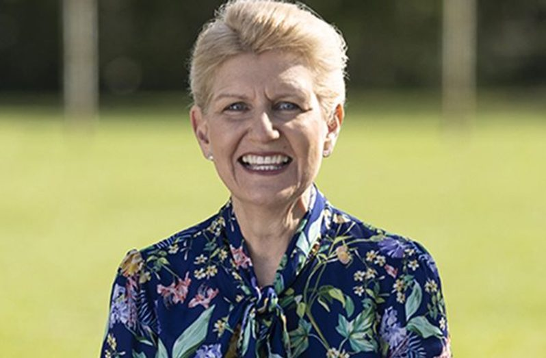 England's Football Association first woman chair Debbie Hewitt