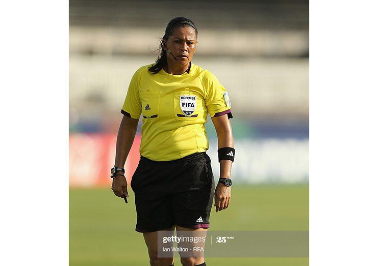 Retired FIFA referee Dianne Ferreira-James