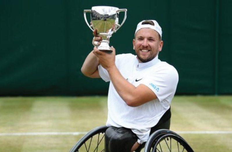Australian Dylan Alcott won the Wimbledon quad wheelchair title last year.