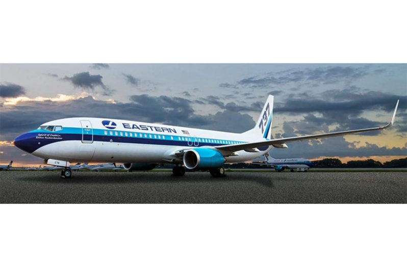 Eastern Airlines will operate a Boing 767 aircraft on the JFK-GEO route