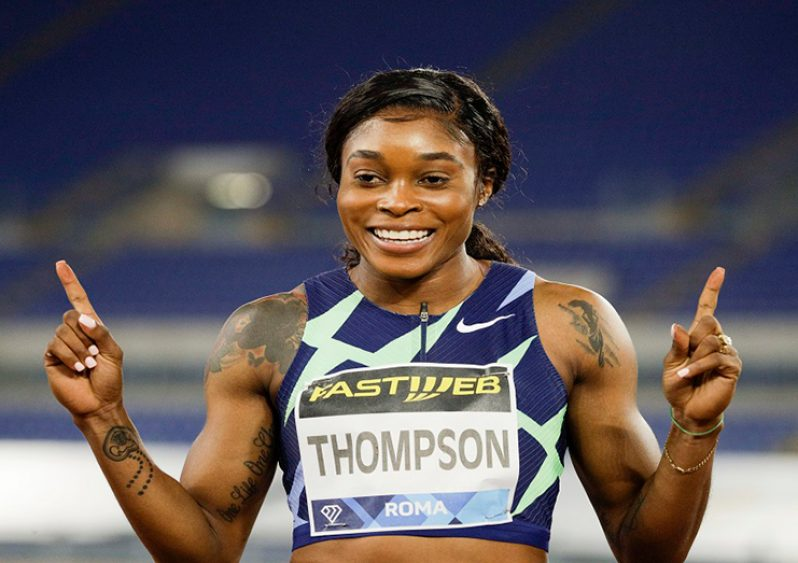 Reigning double Olympic champion Jamaican Elaine Thompson