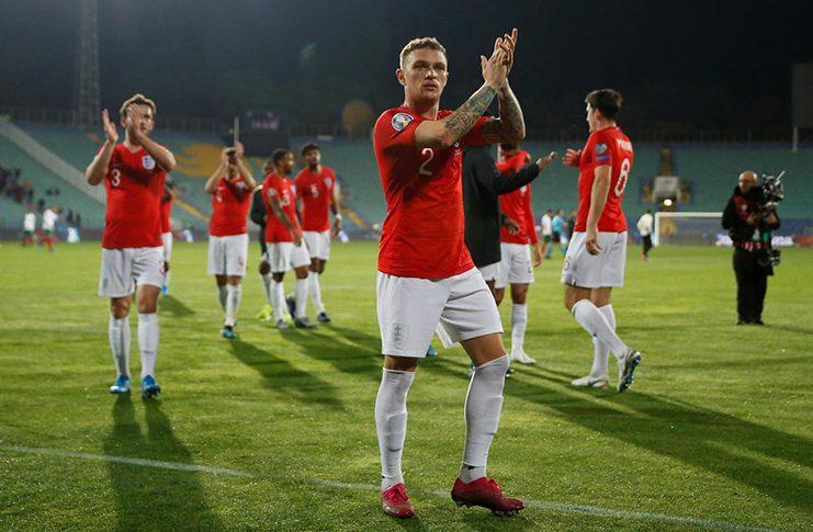Vasil Levski National Stadium, Sofia, Bulgaria -  England's Kieran Trippier celebrates after the match Action Images via Reuters/Carl Recine