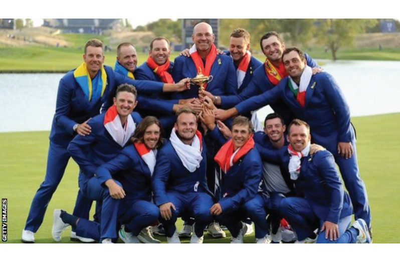 Europe are the current holders of the Ryder Cup after beating the U.S. in the 2018 match at Le Golf National in France.