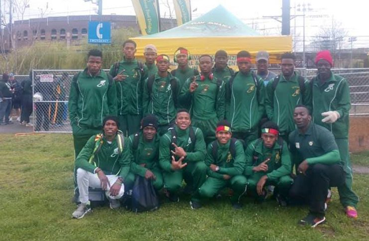 Some of the athletes who are part of the Hopetown Flames Athletics Club