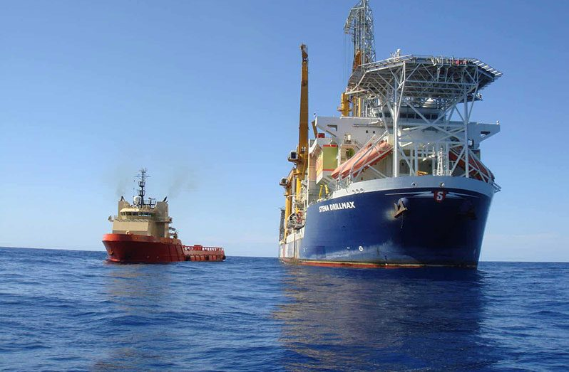 The Stena DrillMAX has sailed into Guyana to commence exploratory and appraisal drilling at ExxonMobil's Longtail-3 well in the Stabroek Block (Photo courtesy of Stena Drilling)