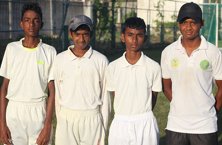 GCC were led by Shahid Vieira (left), Joshua Persaud-Sooklall, Vishwanauth Ram and Joash Charles.
