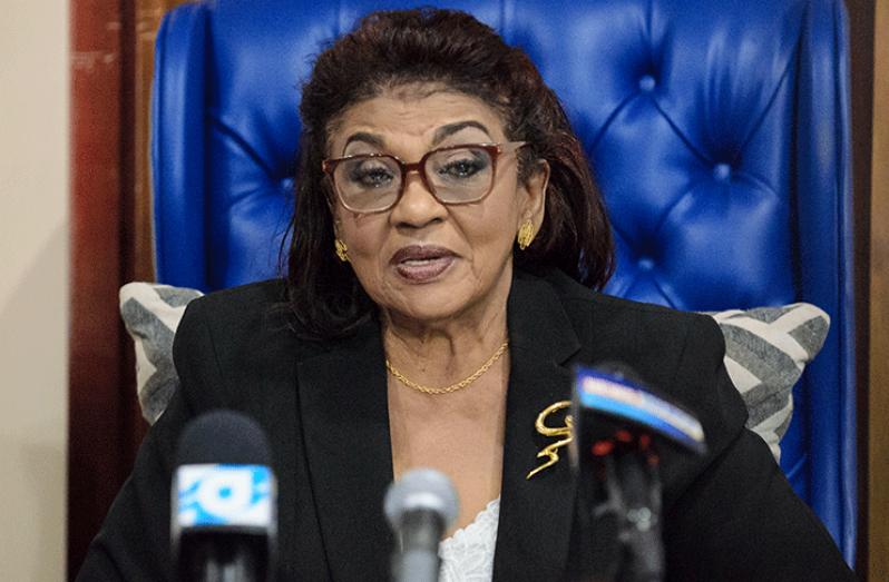 GECOM Chair Justice Claudette Singh
