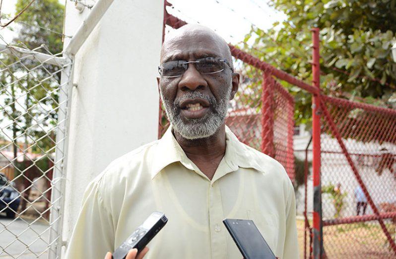 GECOM government-nominated Commissioner Vincent Alexander (Samuel Maughn photo)