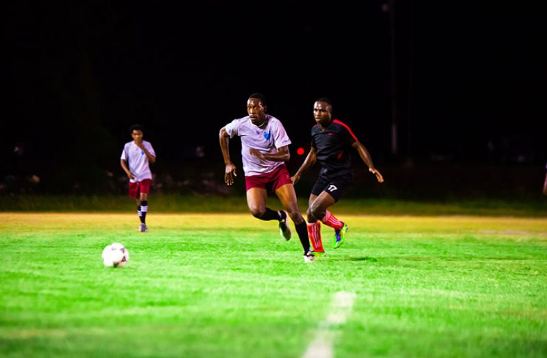 Semi-final action in the Turbo Football tournament continues tonight at the Ministry of Education ground, CARIFESTA Avenue.