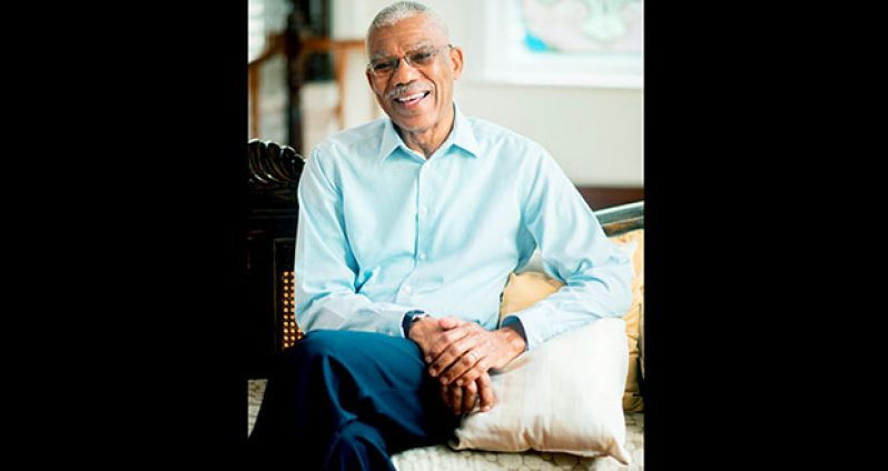 President David Granger photographed at State House by Saajid Husani