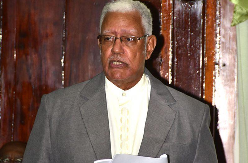 Agriculture Minister Noel Holder