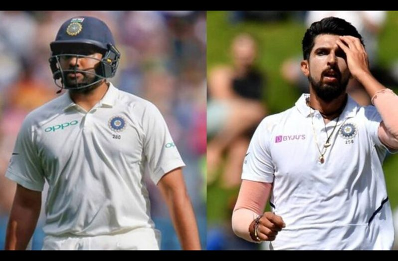 Rohit Sharma (left) and Ishant Sharma's absence will further deepen the gaps in the Indian Test team.  (BCCI/Twitter/AFP)