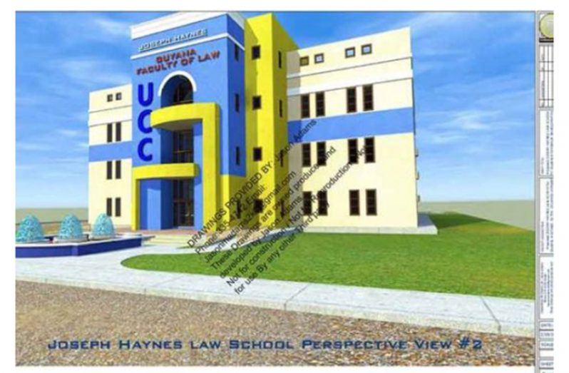 An artist's impression of the JOF Haynes Law School