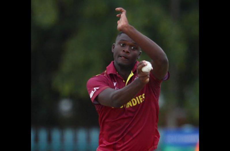 Fast bowler Jayden Seales grabbed four for 19.