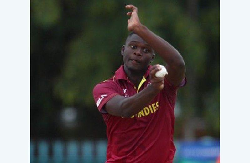 Uncapped West Indies fast bowler Jayden Seales