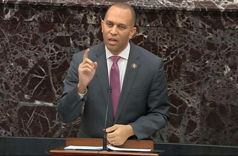 US Congressman and Chairman of the Democratic Caucus of the US House of Representatives, Hakeem Jeffries