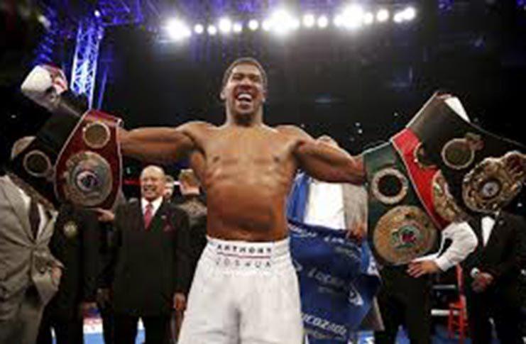 WBO heavyweight champion Anthony Joshua