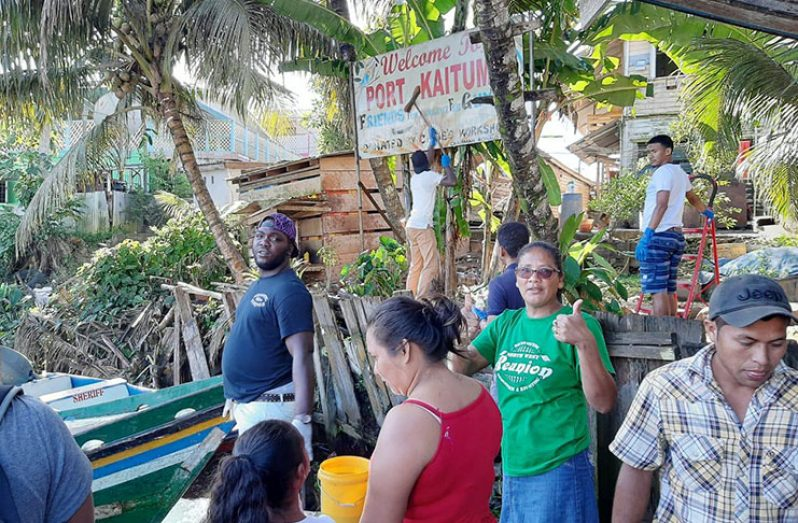 Residents working together to beautify Port Kaituma