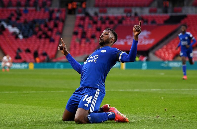 Kelechi Iheanacho of Leicester City celebrates (Image credit: Getty Images)