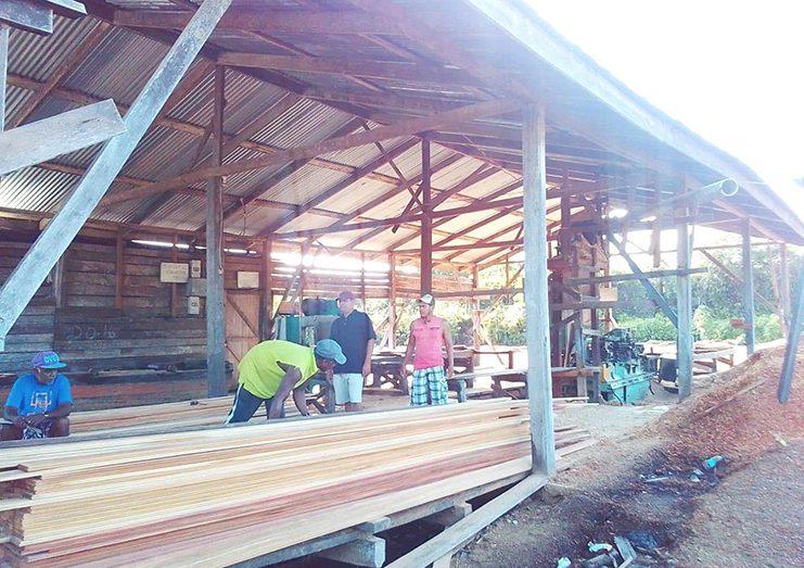 The sawmill at Kwebanna