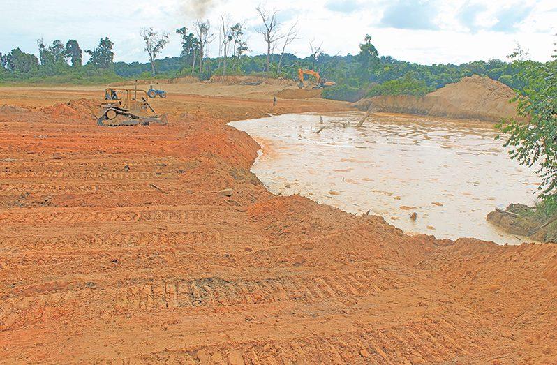 Backfilling as part of land restoration (GGMC photo)