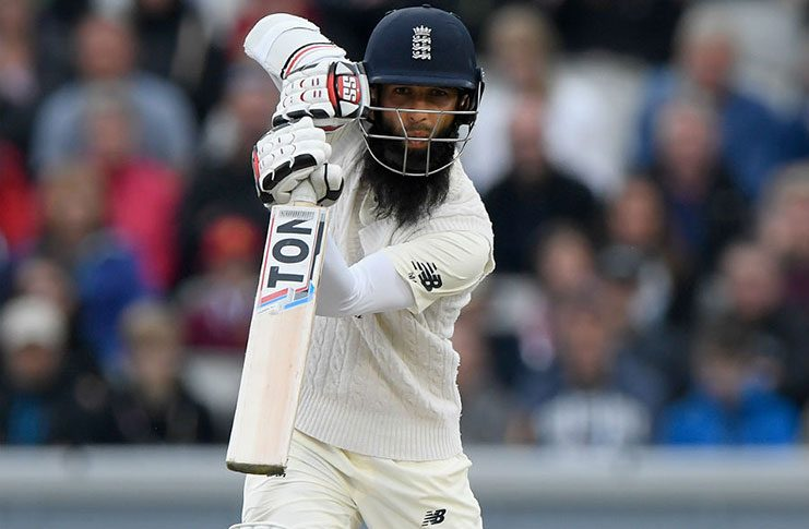 Moeen Ali counterattacked after tea as England's lead quickly grew.
